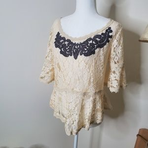 Free People Lace Blouse size M